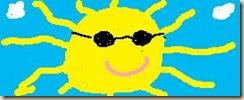 Sonne Thumb in Lisa´s Tagebuch